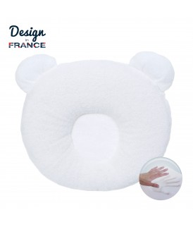 P'tit Panda pillow 21x19cm White
