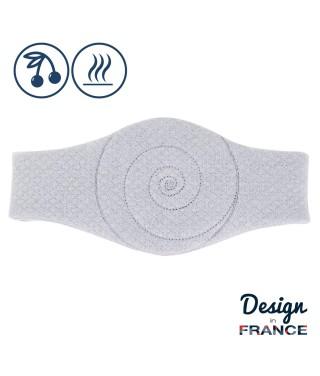 Mini bouillotte de massage losange gris