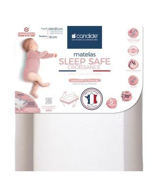 Matelas bébé sleep safe croissance déhoussable 60x120cm