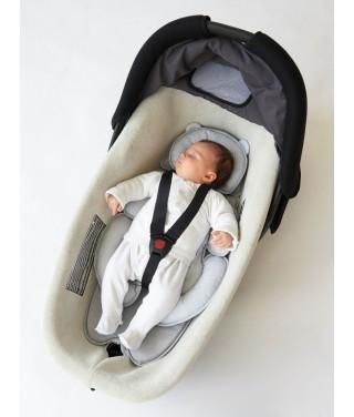 Cocon de voyage réducteur universel bébé gris