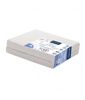 Matelas Ocean Friendly pliant 2 parties déhoussable 60x120cm