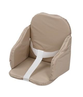 Coussin de chaise bébé à sangles taupe