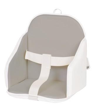 Coussin de chaise PVC avec sangles gris/blanc