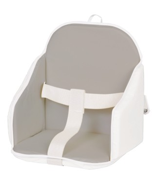 Highchair cushion in pvc with straps Grey / white