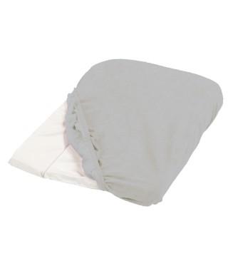 Housse de matelas à langer éponge 50x75cm blanc