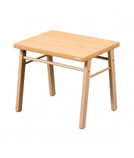 Table basse enfant vernis naturel