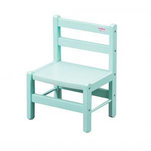 Chaise basse enfant laque vert mint
