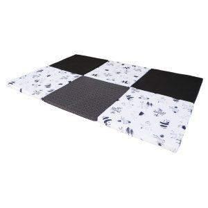 Tapis d'éveil à plat noir et blanc - COMBELLE