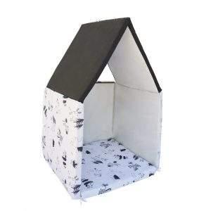 Tapis d'éveil en cabane noir et blanc - COMBELLE